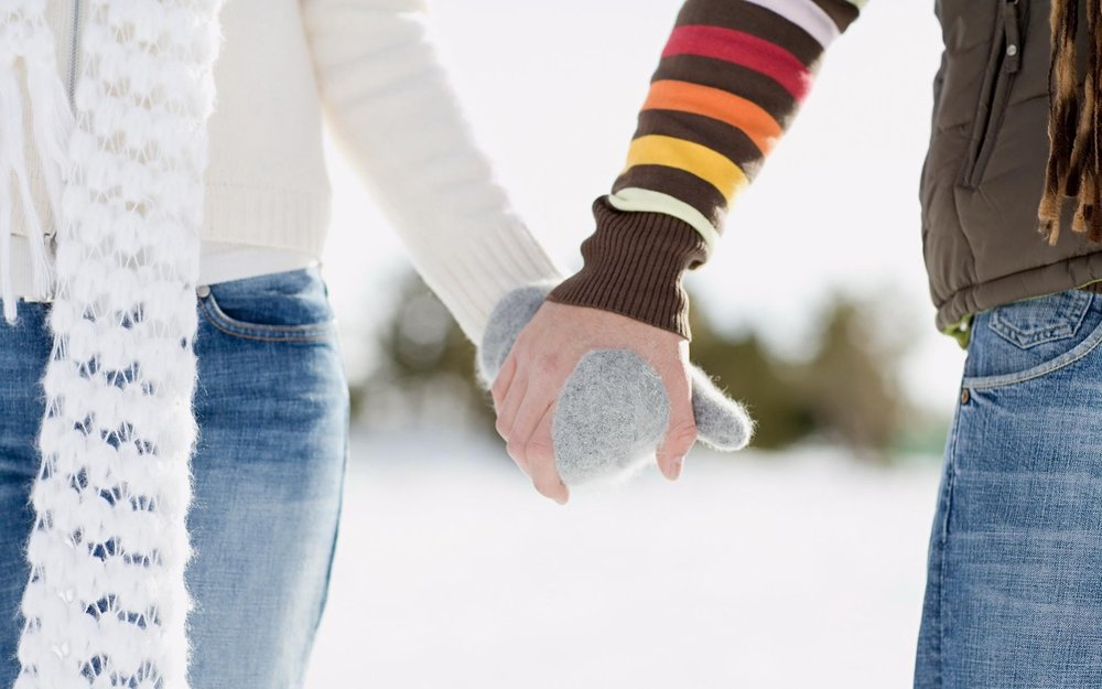 Blog - Couple Holding Hands in Winterds