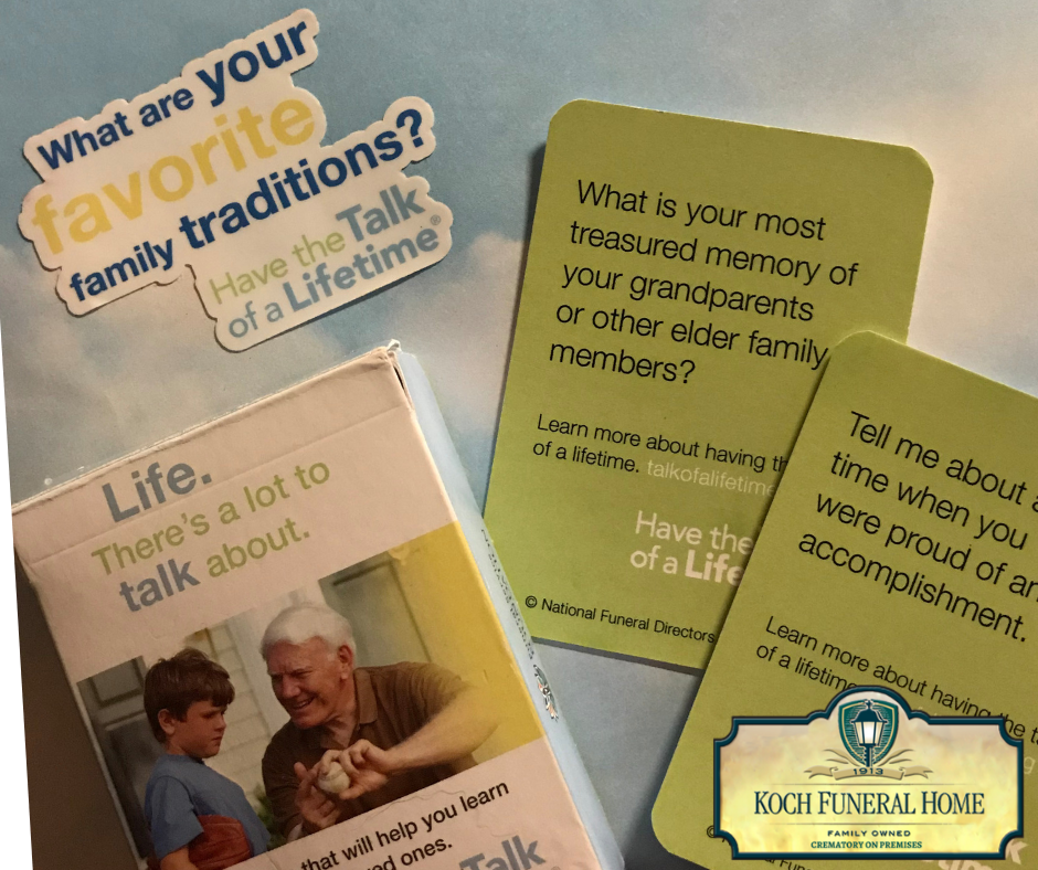 Get your Have the Talk of a Lifetime cards today!