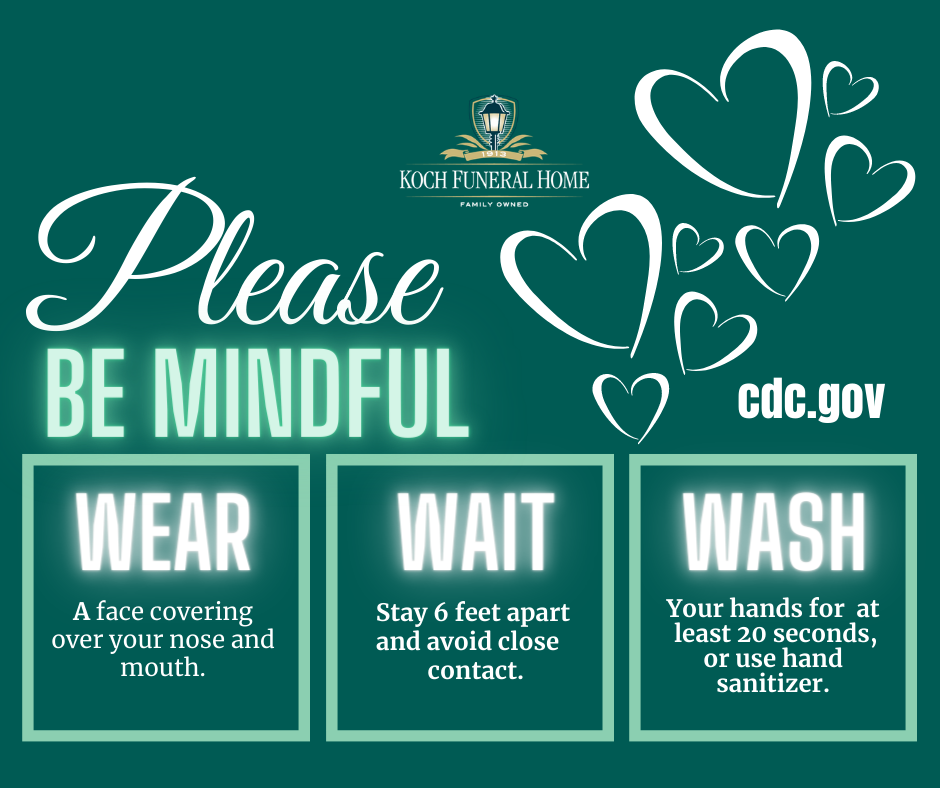 Please BE MINDFUL - WEAR, WAIT, WASH