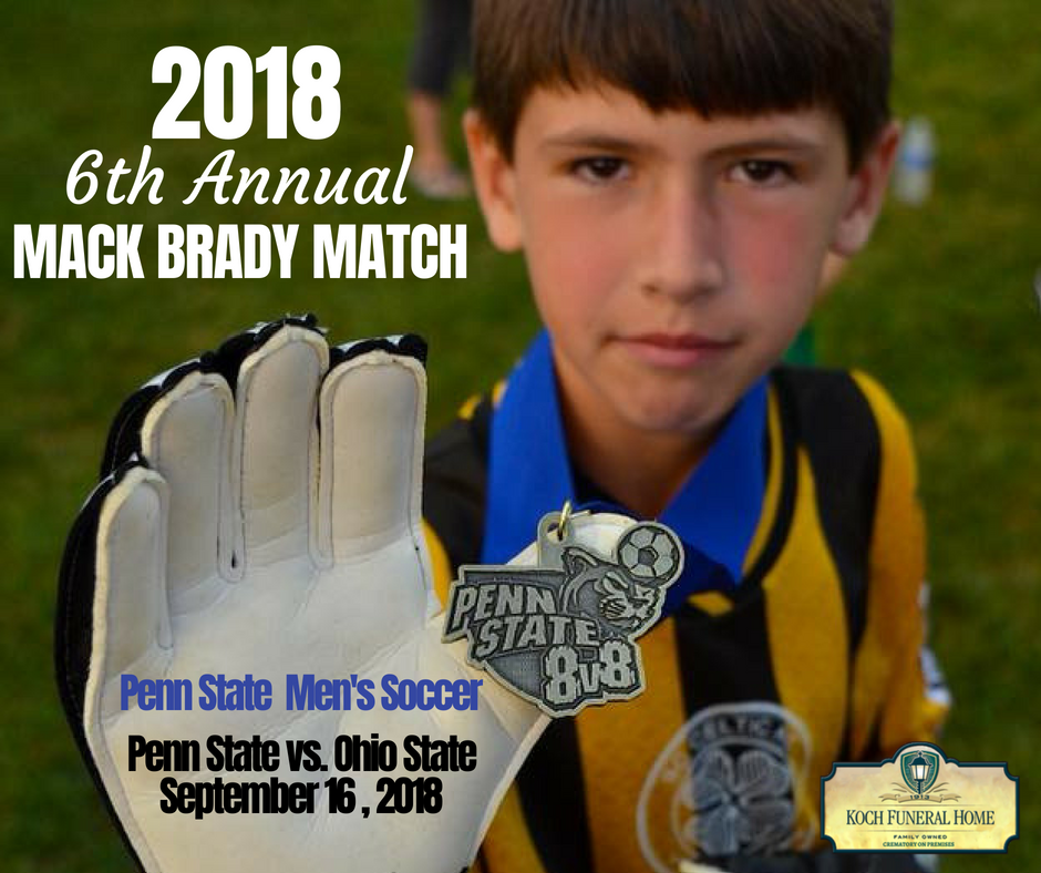 2018 - FB - 6th Annual Mack Brady PSU Mens Soccer