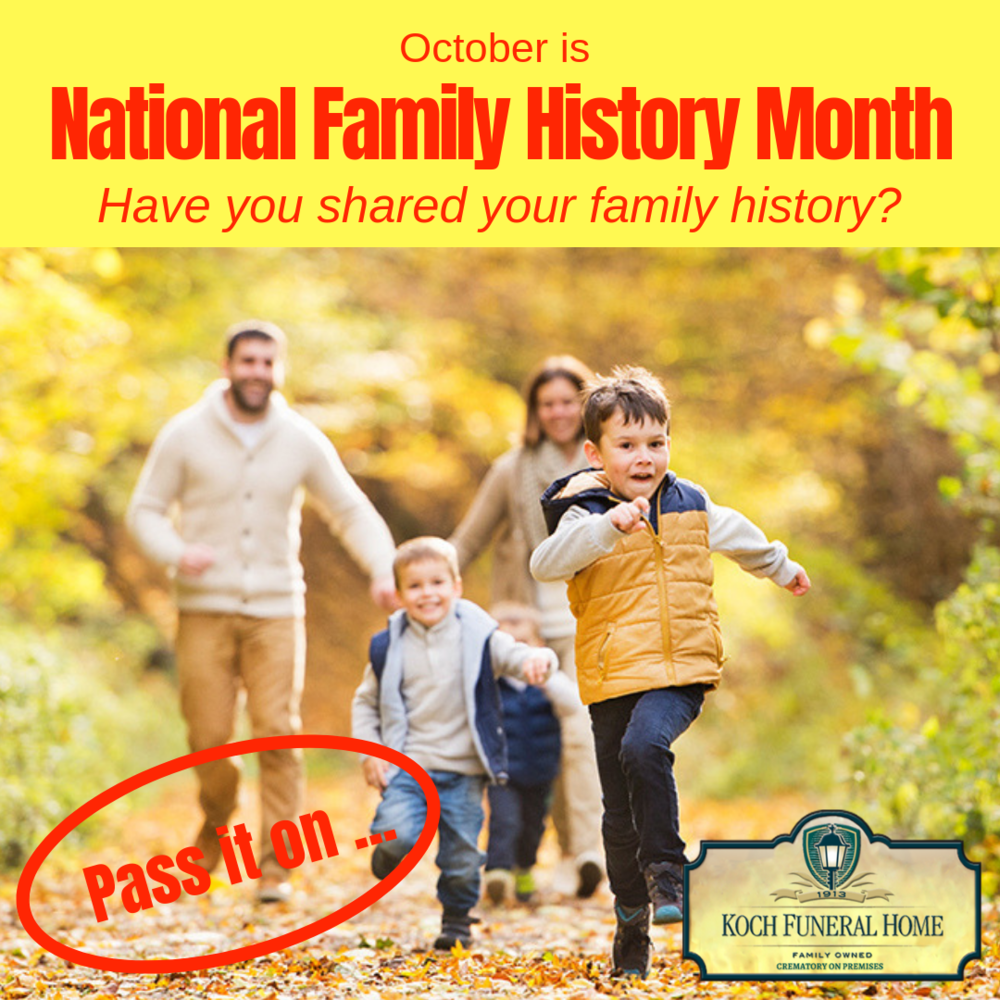 2018 - Instagram - October is National Family History Monty