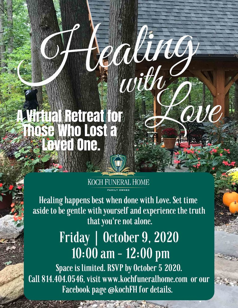 2020 - Flyer - Oct - Virtual Retreat - Healing with Love